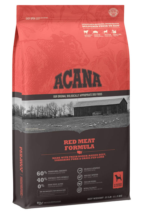 ACANA Heritage Dry Dog Food, Red Meat, Biologically Appropriate & Grain Free - ViTaiLity Pet Supply