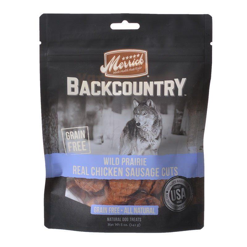 Merrick Backcountry Wild Prairie Real Chicken Sausage Cuts - ViTaiLity Pet Supply