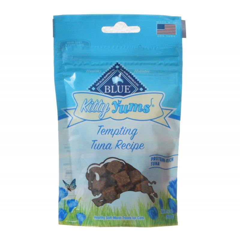 Blue Buffalo Kitty Yums Moist Cat Treats - Tempting Tuna Recipe 2 oz - ViTaiLity Pet Supply