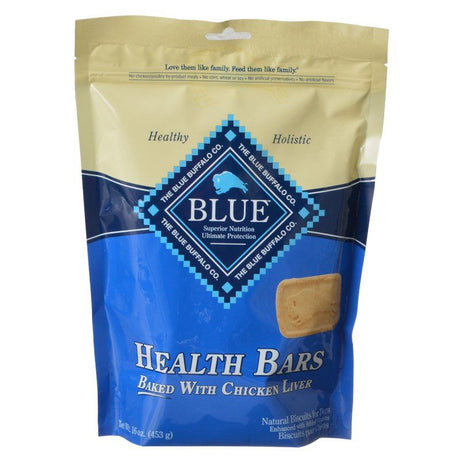 Blue Buffalo Health Bars Dog Biscuits - Baked with Chicken Liver  16 oz - ViTaiLity Pet Supply