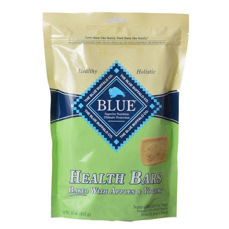 Blue Buffalo Health Bars Dog Biscuits - Baked with Apples & Yogurt  16 oz - ViTaiLity Pet Supply