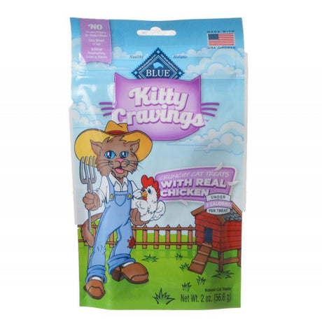 Blue Buffalo Kitty Cravings Crunchy Cat Treats - Real Chicken  2 oz - ViTaiLity Pet Supply