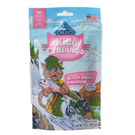 Blue Buffalo Kitty Cravings Crunchy Cat Treats - Real Salmon  2 oz - ViTaiLity Pet Supply
