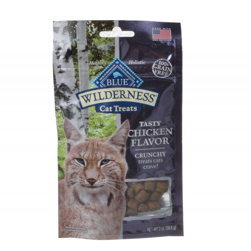 Blue Buffalo Wilderness Crunchy Cat Treats - Tasty Chicken Flavor  2 oz - ViTaiLity Pet Supply