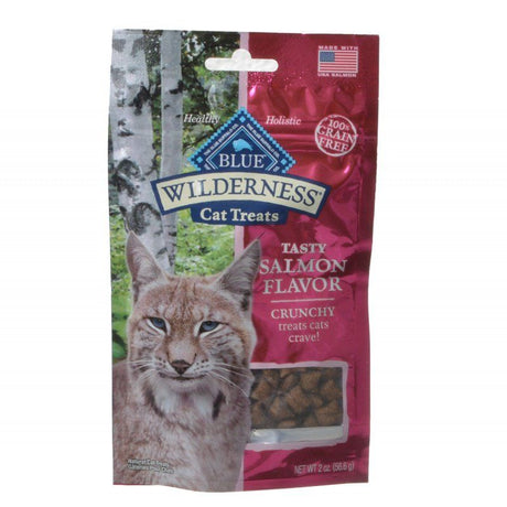 Blue Buffalo Wilderness Crunchy Cat Treats - Tasty Salmon Flavor  2 oz - ViTaiLity Pet Supply