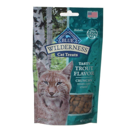 Blue Buffalo Wilderness Crunchy Cat Treats - Tasty Trout Flavor  2 oz - ViTaiLity Pet Supply