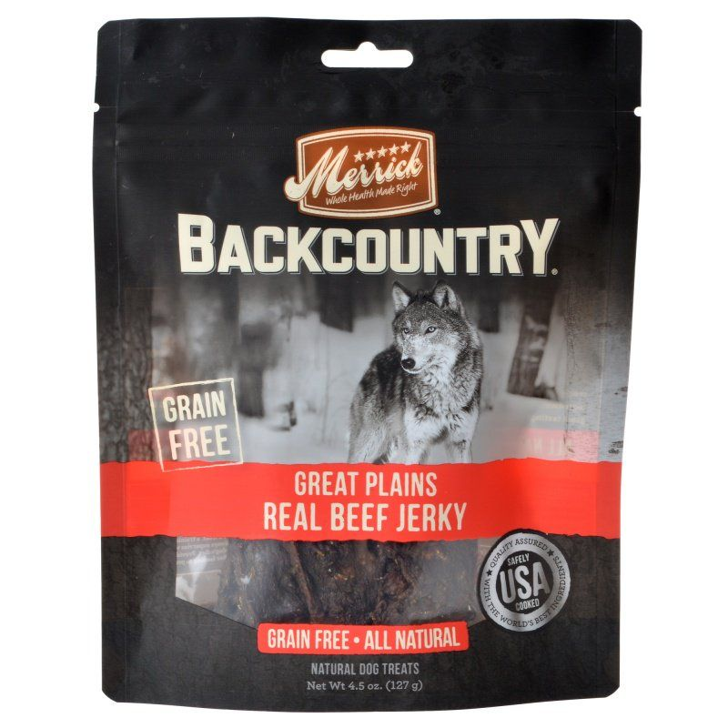 Merrick Backcountry Great Plains Real Beef Jerky - ViTaiLity Pet Supply