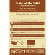 Taste of the Wild High Protein Real Meat Recipe Premium Dry Dog Food with Roasted Bison and Roasted Veniso - ViTaiLity Pet Supply