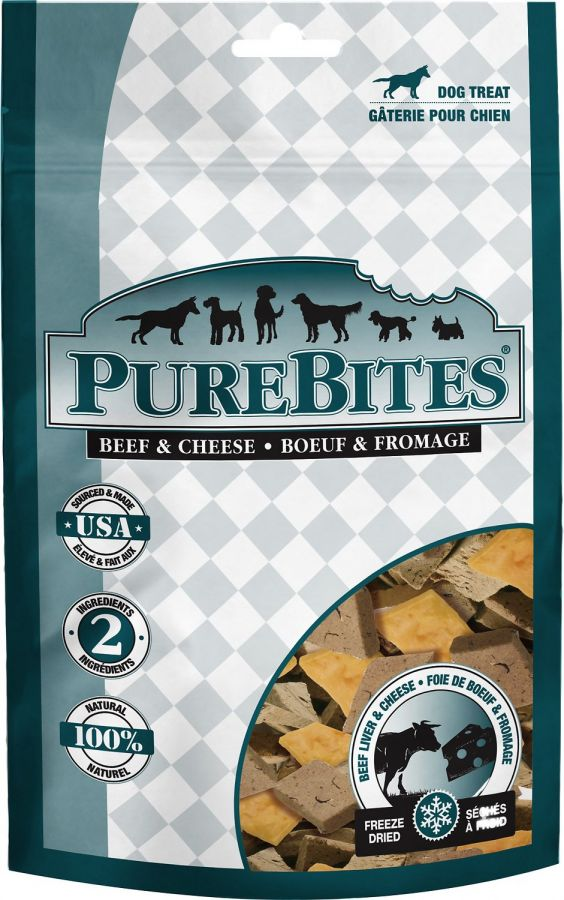 PureBites Beef Liver & Cheese Freeze Dried Dog Treats 8.8oz - ViTaiLity Pet Supply