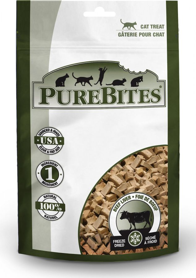 PureBites Beef Liver Freeze Dried Cat Treats 1.55oz - ViTaiLity Pet Supply