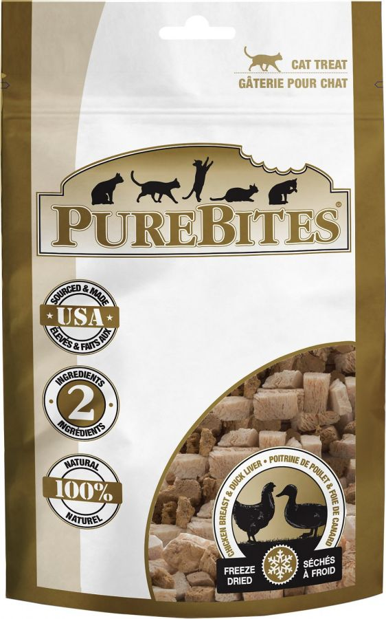 PureBites Chicken Breast & Duck Liver Freeze Dried Cat Treats 1.12oz - ViTaiLity Pet Supply