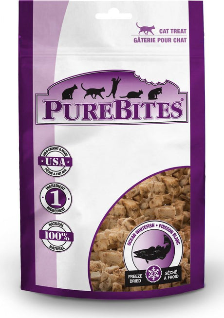 PureBites Ocean Whitefish Freeze Dried Cat Treats 0.7oz - ViTaiLity Pet Supply