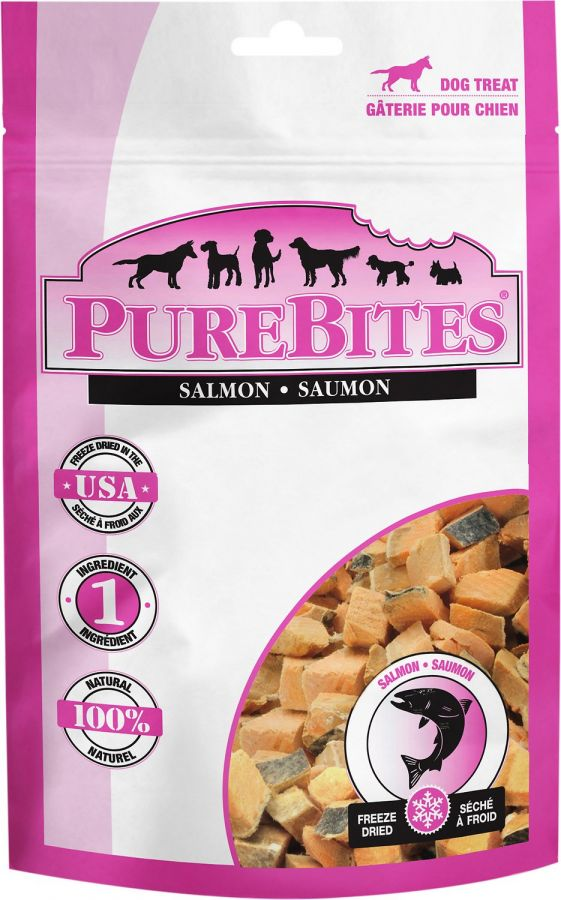 PureBites Salmon Freeze Dried Dog Treats 2.47oz - ViTaiLity Pet Supply