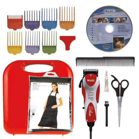 "Wahl Deluxe U Clip Red 6.5"" x 2"" x 1.5"" - ViTaiLity Pet Supply"
