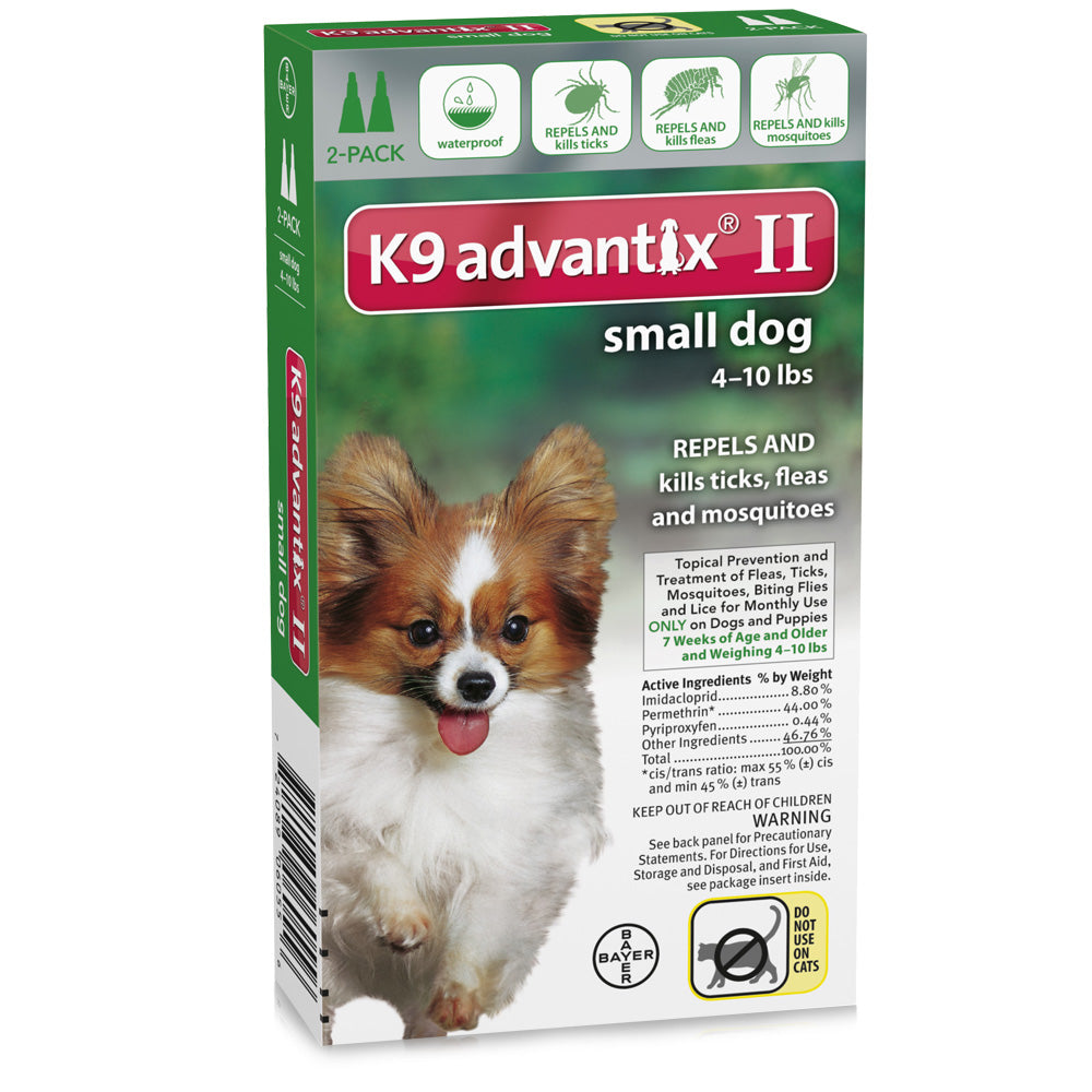 Advantix Flea and Tick Control for Dogs Under 10 lbs 2 Month Supply - ViTaiLity Pet Supply