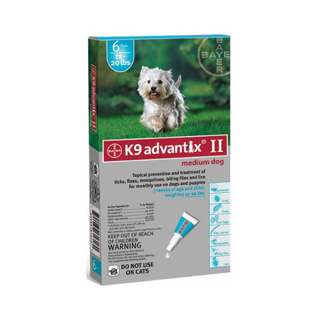 Advantix Flea and Tick Control for Dogs 10-22 lbs 6 Month Supply - ViTaiLity Pet Supply