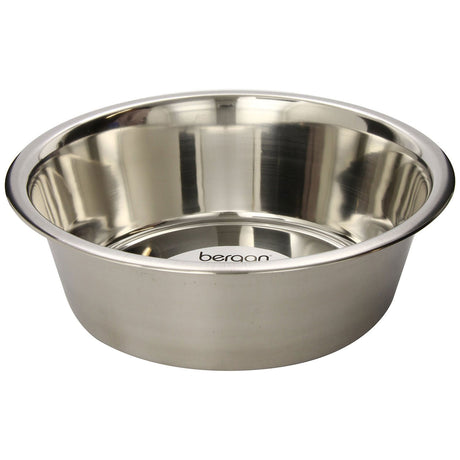 "Bergan Stainless Steel Bowl 17 cups Silver 11.2"" x 11.2"" x 4"" - ViTaiLity Pet Supply"