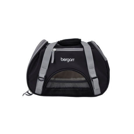 "Bergan Pet Comfort Carrier Small Black / Brown 16"" x 8"" x 11"" - ViTaiLity Pet Supply"