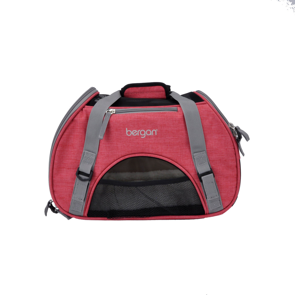 "Bergan Pet Comfort Carrier Small Berry  16"" x 8"" x 11"" - ViTaiLity Pet Supply"