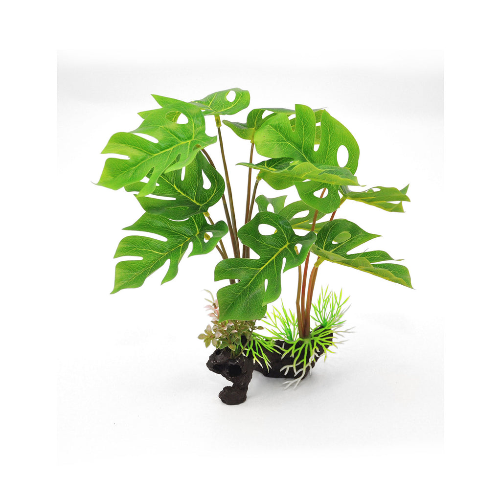 "BioBubble Decorative Split Leaf Green 6"" x 3"" x 12"" - ViTaiLity Pet Supply"