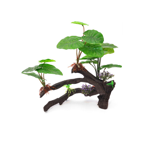 "BioBubble Decorative Ficus Large Green 14"" x 4.5"" x 15"" - ViTaiLity Pet Supply"