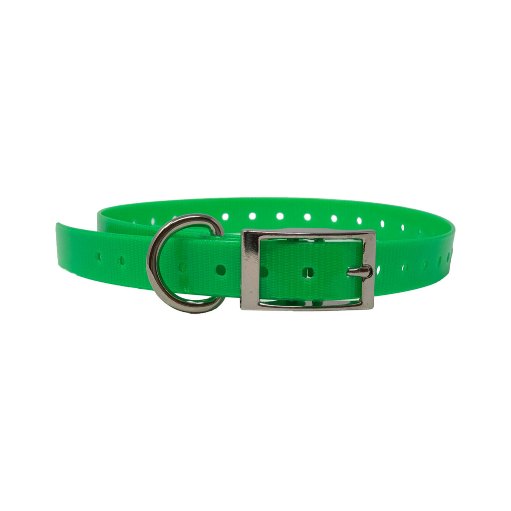 "The Buzzard's Roost Replacement Collar Strap 3/4"" Neon Green 3/4"" x 24"" - ViTaiLity Pet Supply"