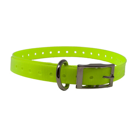 "The Buzzard's Roost Replacement Collar Strap 3/4"" Neon Yellow 3/4"" x 24"" - ViTaiLity Pet Supply"