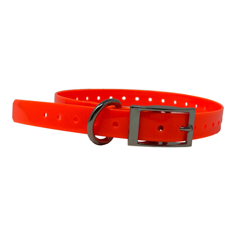 "The Buzzard's Roost Replacement Collar Strap 3/4"" Orange 3/4"" x 24"" - ViTaiLity Pet Supply"