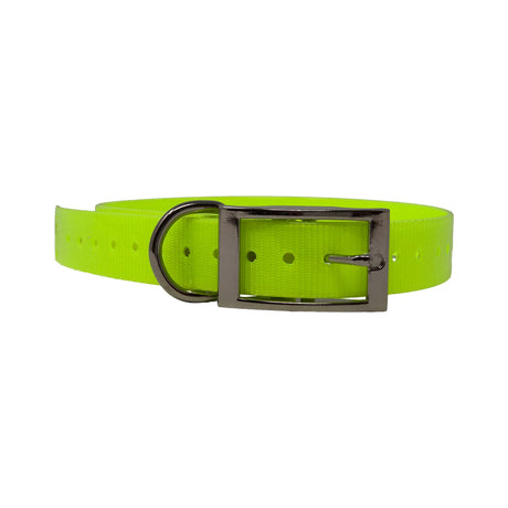 "The Buzzard's Roost Replacement Collar Strap 1"" Neon Yellow 1"" x 24"" - ViTaiLity Pet Supply"