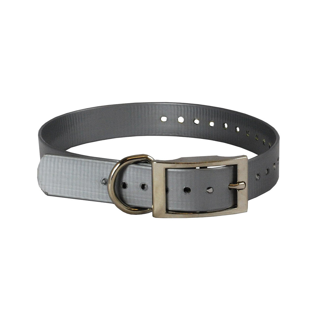 "The Buzzard's Roost Replacement Collar Strap 1"" Silver 1"" x 24"" - ViTaiLity Pet Supply"