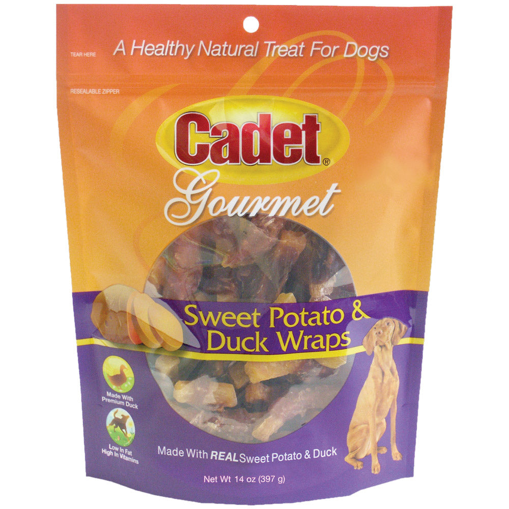 Cadet Premium Gourmet Duck and Sweet Potato Wraps Treats 14 ounces - ViTaiLity Pet Supply