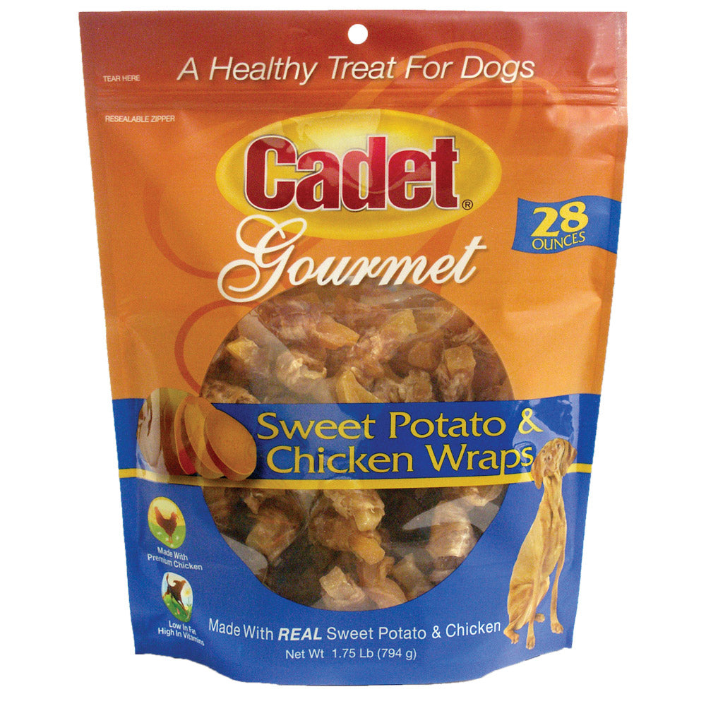 Cadet Premium Gourmet Chicken and Sweet Potato Wraps Treats 28 ounces - ViTaiLity Pet Supply