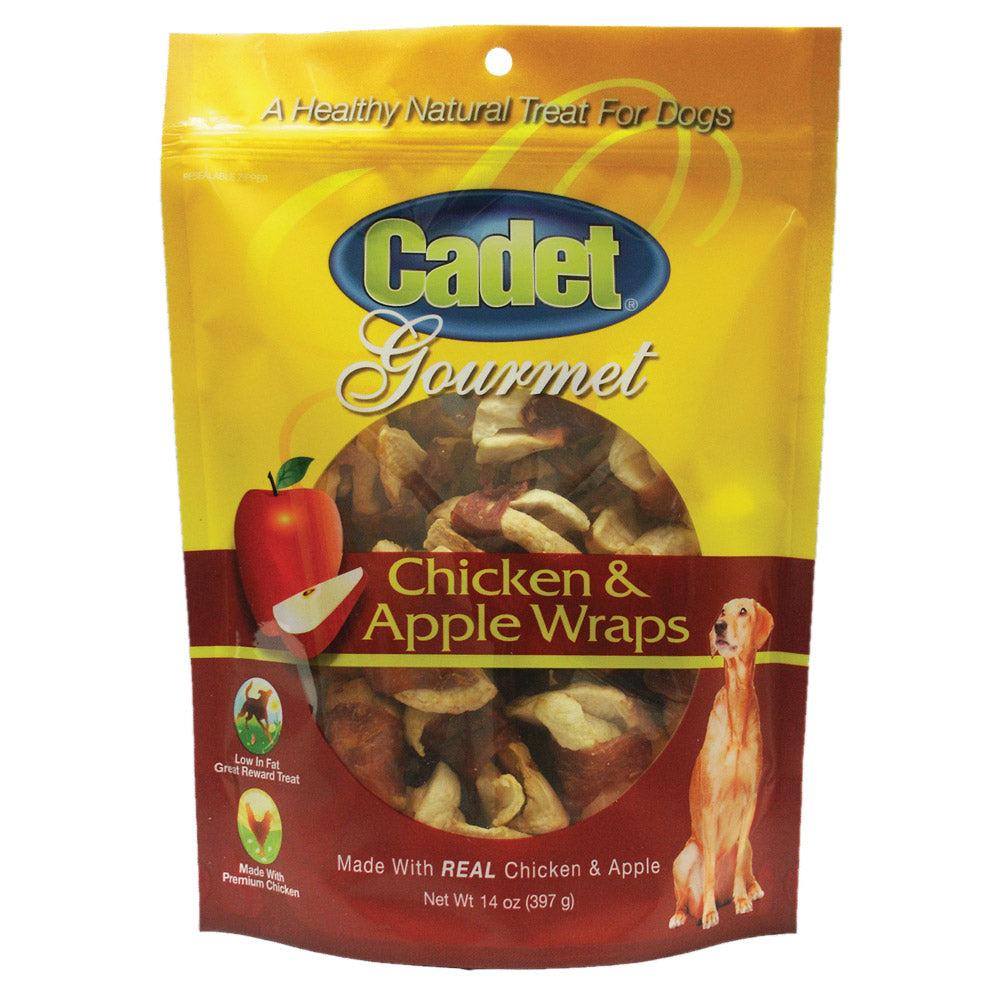 Cadet Premium Gourmet Chicken with Apple Wraps Treats 14 ounces - ViTaiLity Pet Supply
