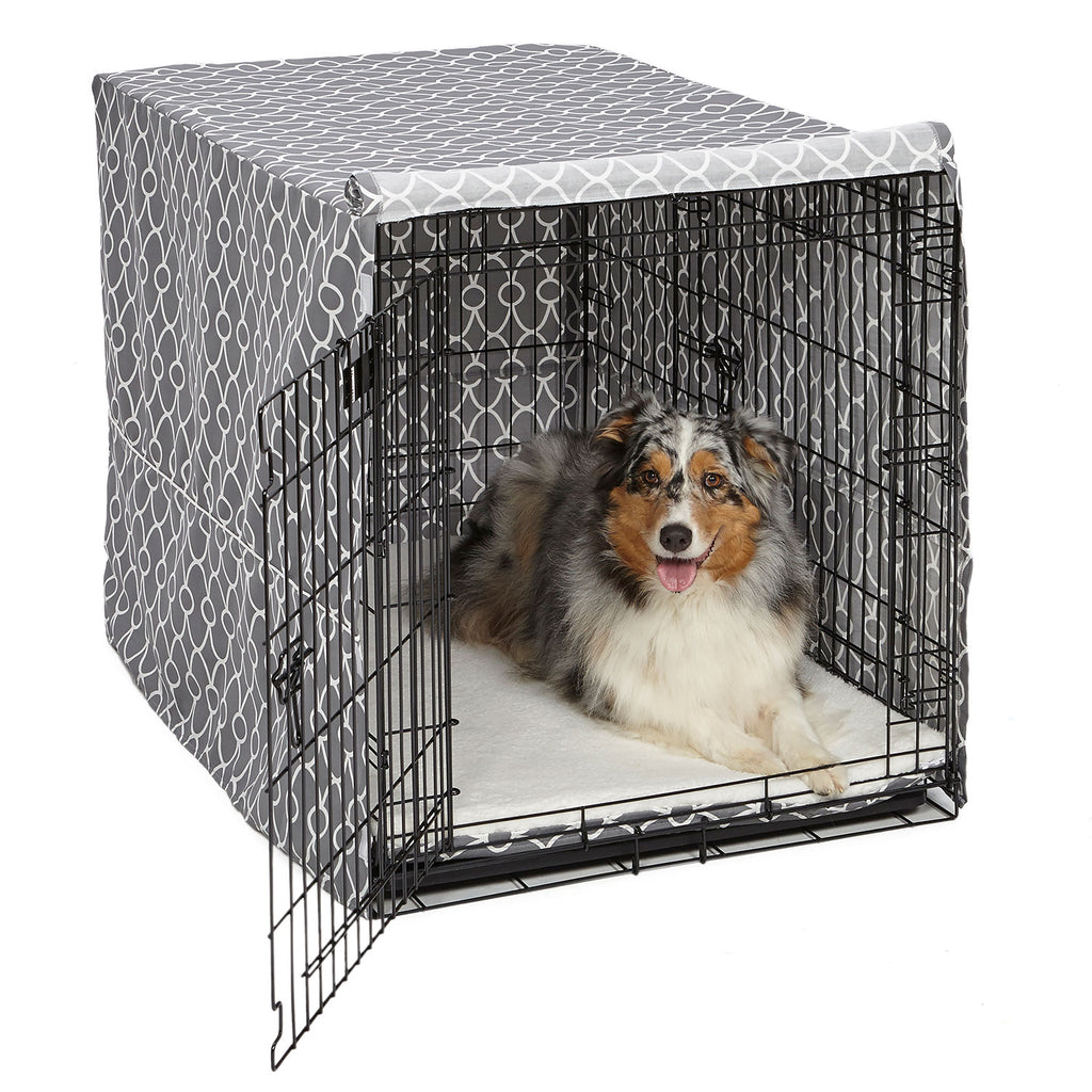 "Midwest QuietTime Defender Covella Dog Crate Cover Gray 36"" x 23"" x 25"" - ViTaiLity Pet Supply"