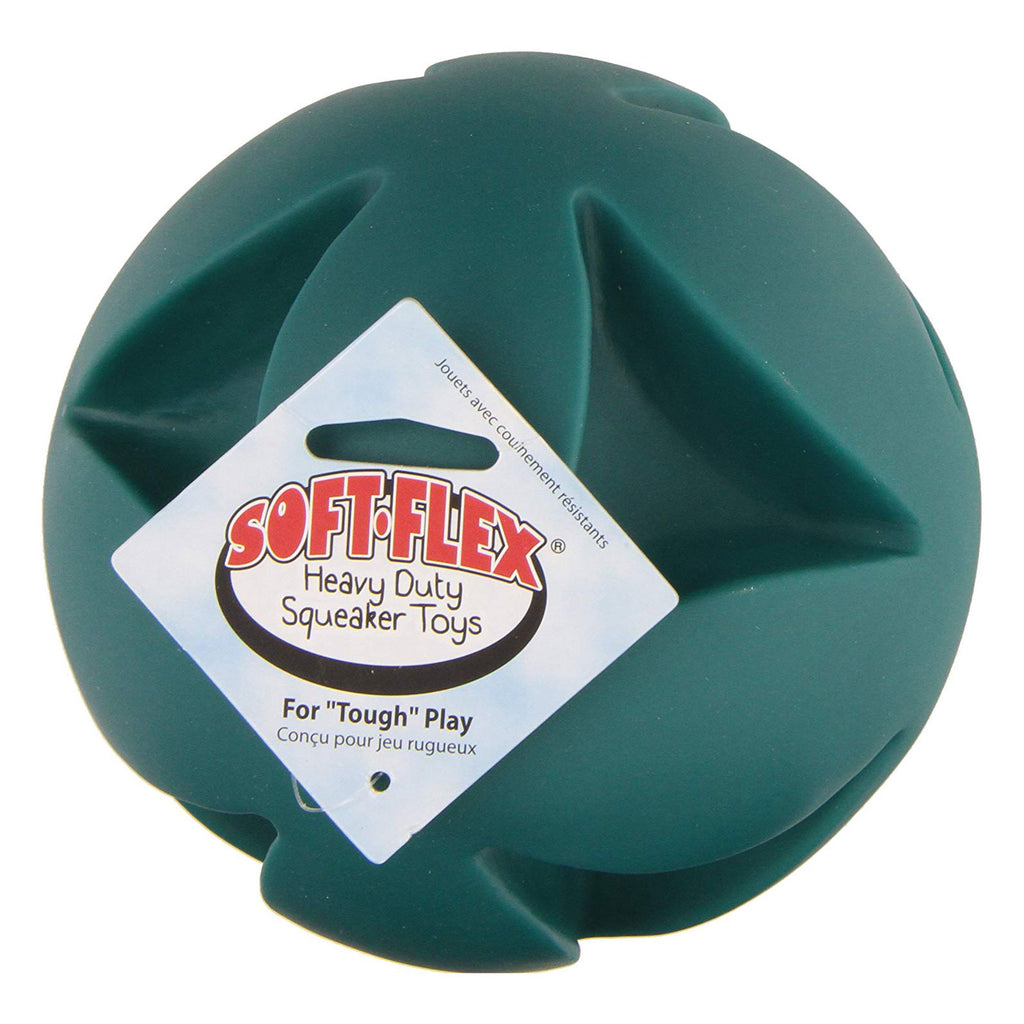 "Hueter Toledo Soft Flex Best Clutch Ball Dog Toy Teal 6"" x 6"" x 6"" - ViTaiLity Pet Supply"