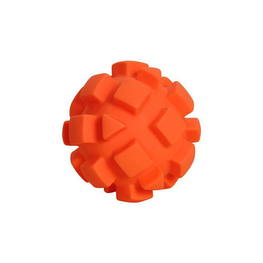 "Hueter Toledo Soft Flex Bumby Ball Dog Toy Orange 5.5"" x 5.5"" x 5.5"" - ViTaiLity Pet Supply"
