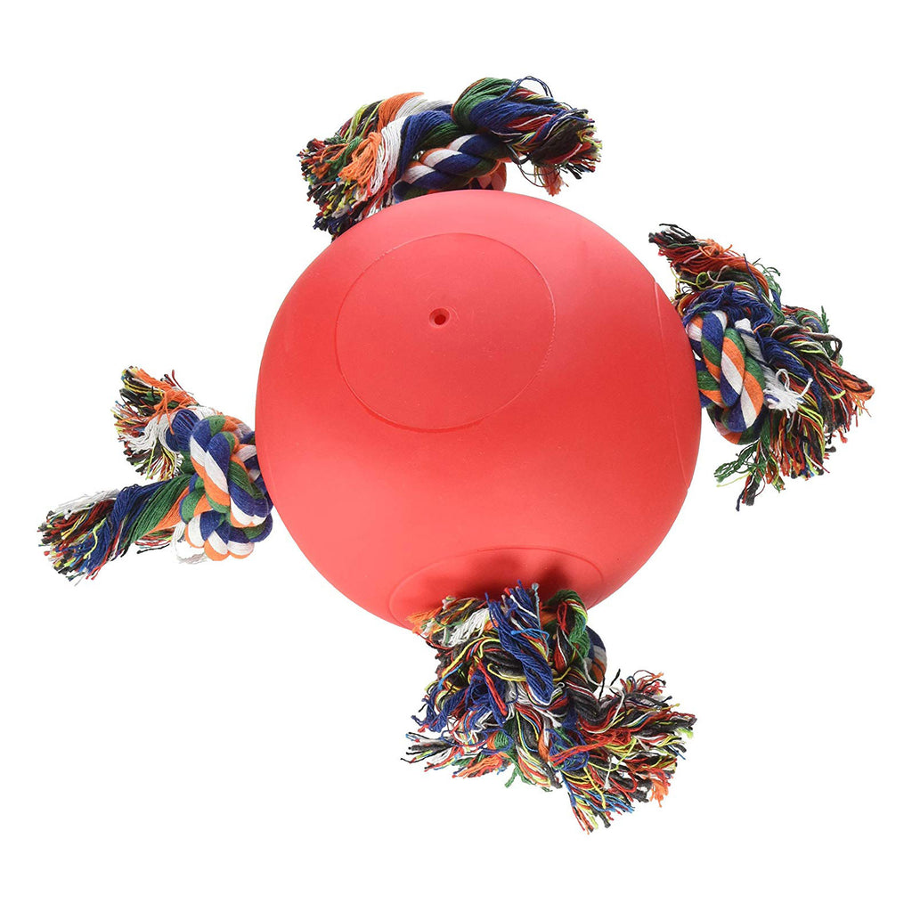 "Hueter Toledo Soft Flex The Tuggy Dog Toy Red 8.5"" x 8.5"" x 6.5"" - ViTaiLity Pet Supply"