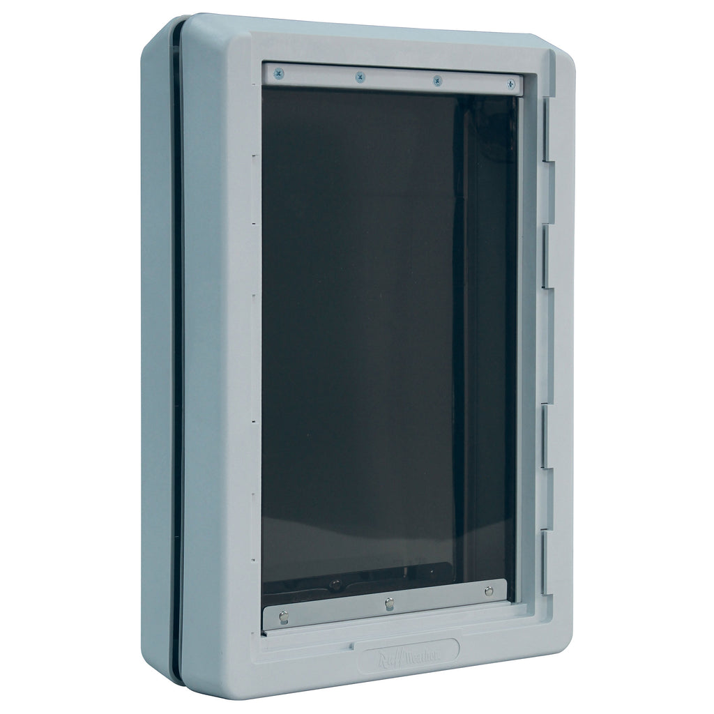 "Ideal Pet Products Ruff-Weather Pet Door Extra Large Grey 5.75"" x 19.94"" x 21.62"" - ViTaiLity Pet Supply"