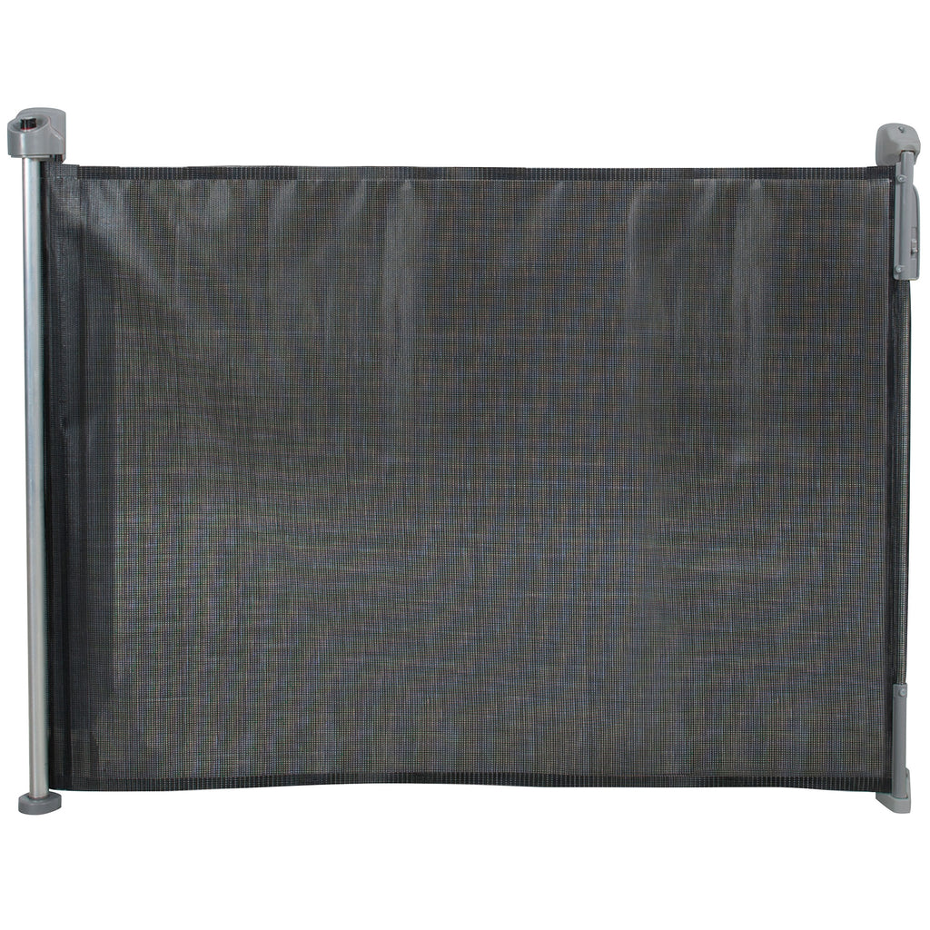 "Kidco Retractable Safeway Mesh Mounted Gate Black 55"" x 1"" x 33.5"" - ViTaiLity Pet Supply"