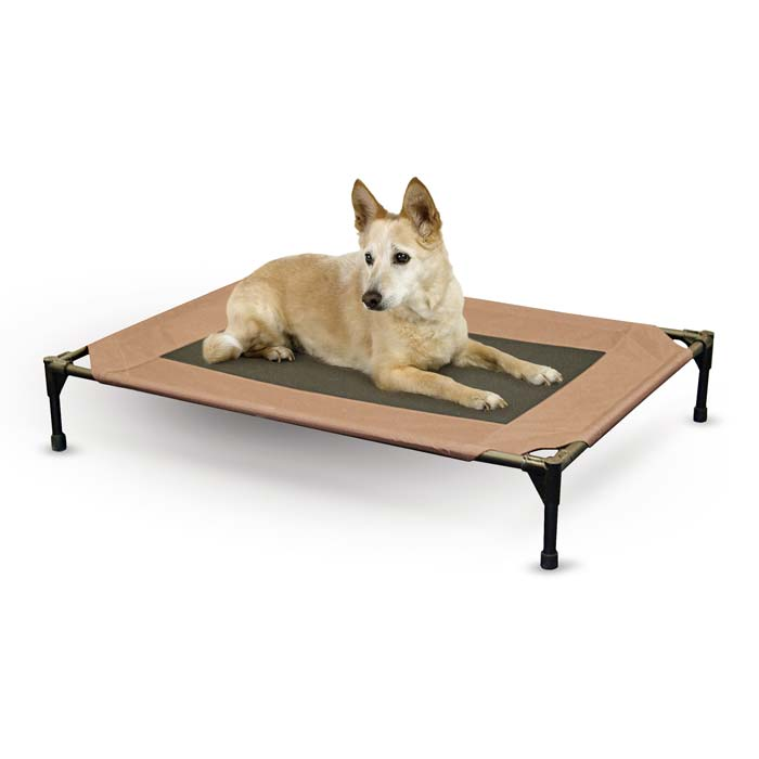 "K&H Pet Products Pet Cot Large Chocolate 30"" x 42"" x 7"" - ViTaiLity Pet Supply"