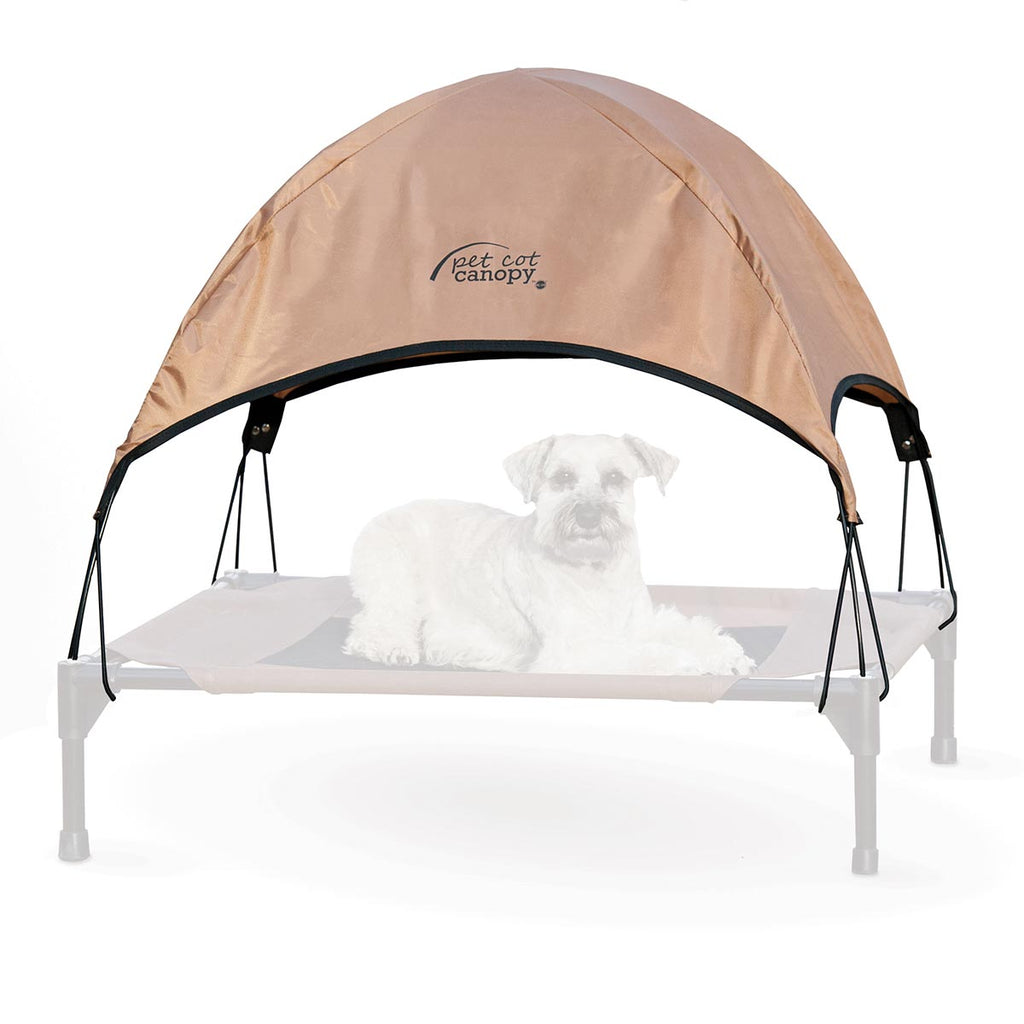 "K&H Pet Products Pet Cot Canopy Medium Tan 25"" x 32"" x 23"" - ViTaiLity Pet Supply"