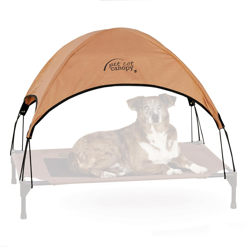 "K&H Pet Products Pet Cot Canopy Large Tan 30"" x 42"" x 28"" - ViTaiLity Pet Supply"