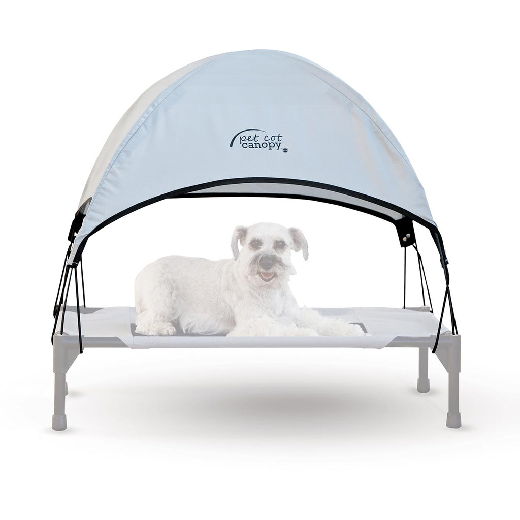 "K&H Pet Products Pet Cot Canopy Medium Gray 25"" x 32"" x 23"" - ViTaiLity Pet Supply"