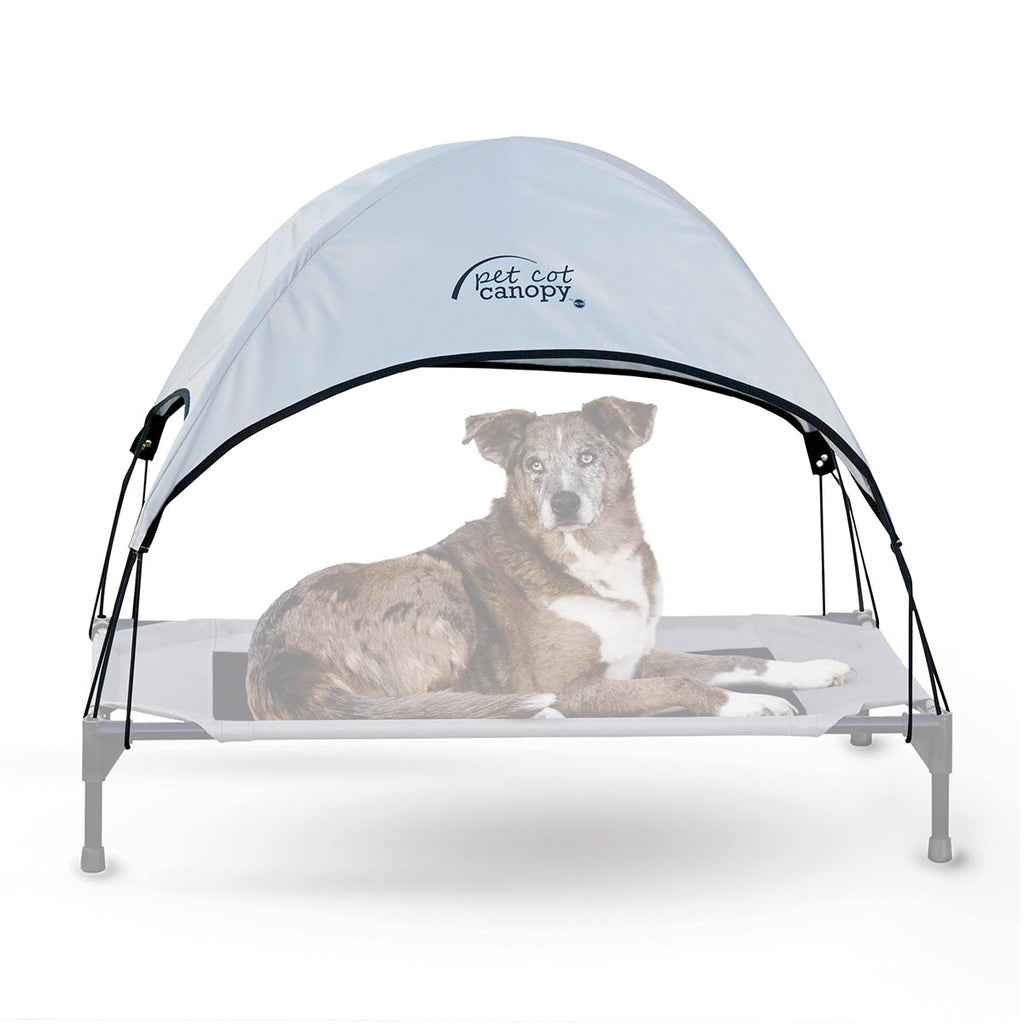 "K&H Pet Products Pet Cot Canopy Large Gray 30"" x 42"" x 28"" - ViTaiLity Pet Supply"