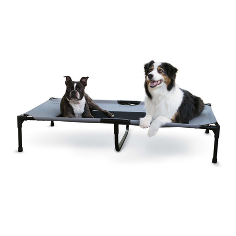 "K&H Pet Products Original Pet Cot Extra Large Gray 32"" x 50"" x 9"" - ViTaiLity Pet Supply"