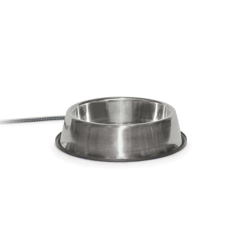 "K&H Pet Products Pet Thermal Bowl Stainless Steel 13"" x 13"" x 3.5"" - ViTaiLity Pet Supply"