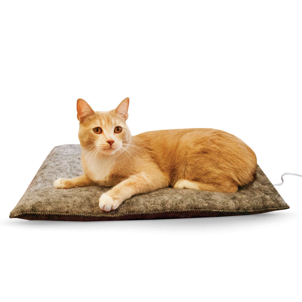 "K&H Pet Products Amazin' Thermo-Kitty Pad Gray 15"" x 20"" x 2"" - ViTaiLity Pet Supply"