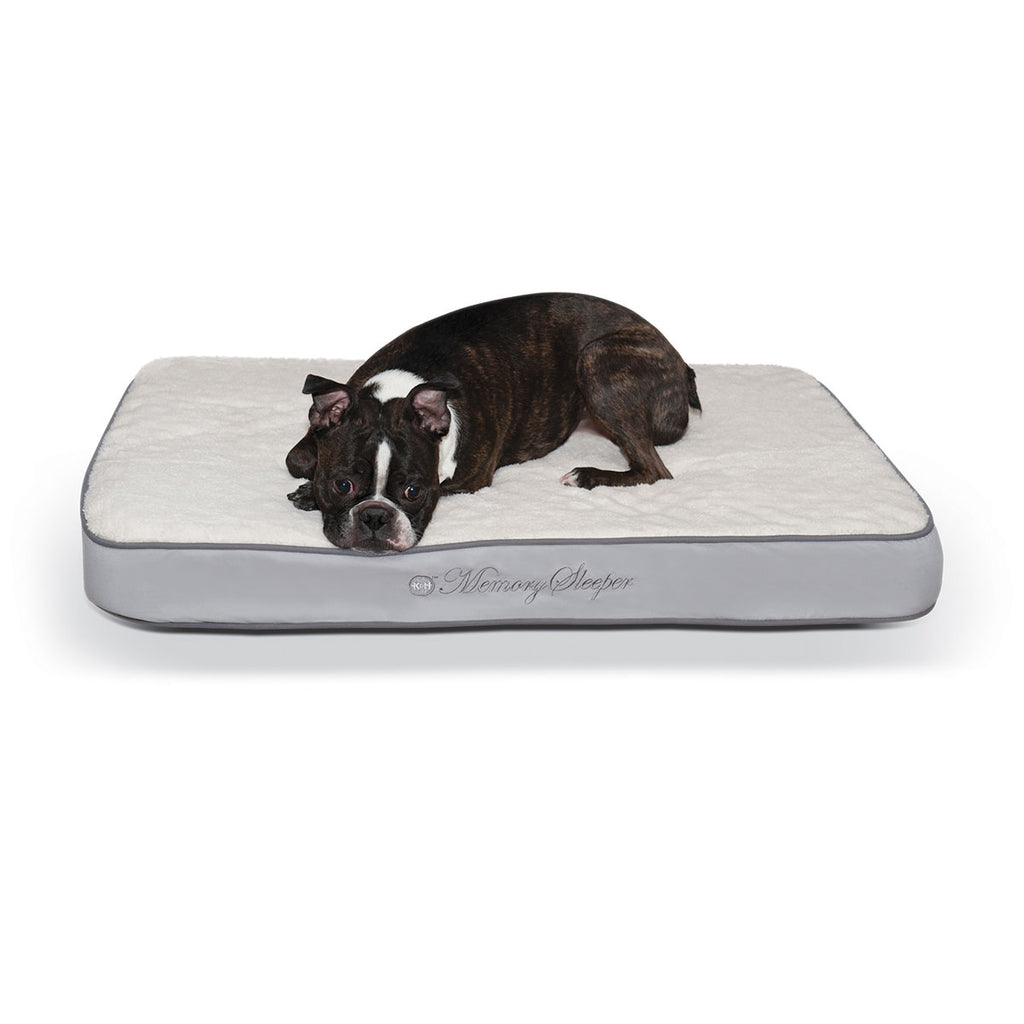 "K&H Pet Products Memory Sleeper Pet Bed Gray 23"" x 35"" x 3.75"" - ViTaiLity Pet Supply"