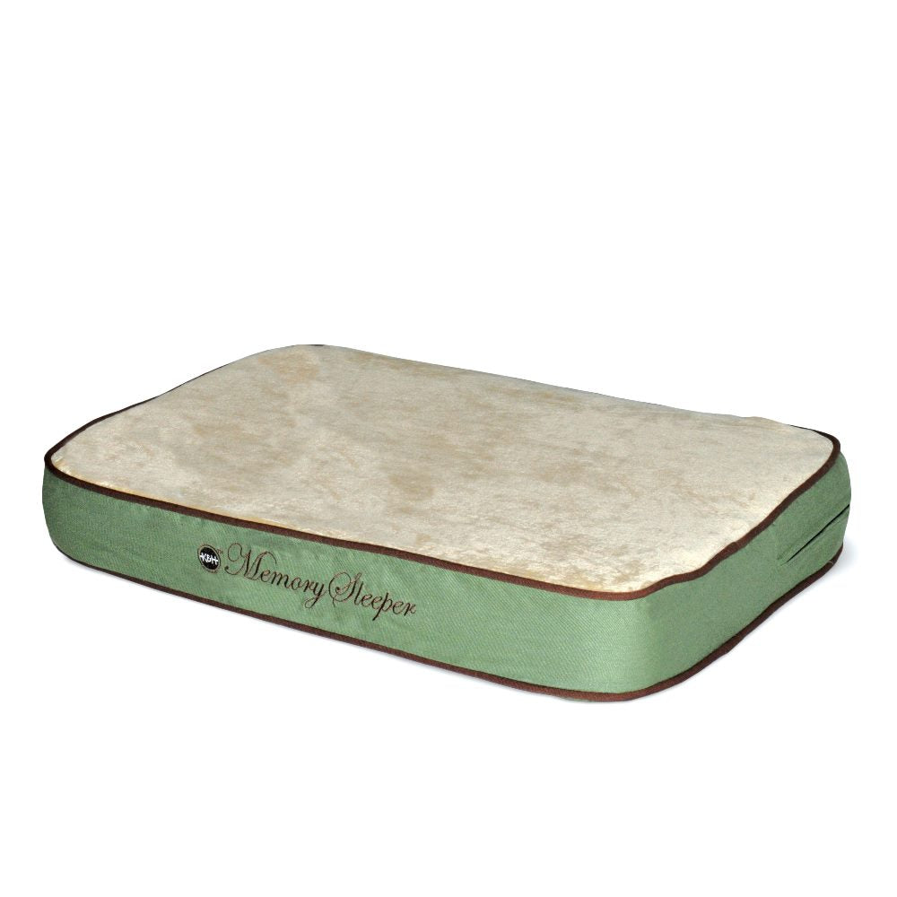 "K&H Pet Products Memory Sleeper Pet Bed Medium Sage 23"" x 35"" x 3.75"" - ViTaiLity Pet Supply"