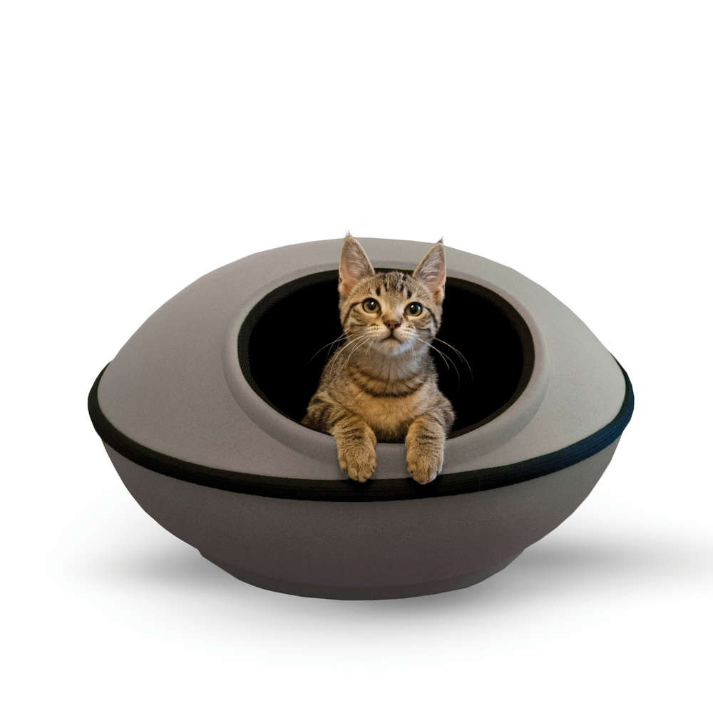 "K&H Pet Products Mod Dream Pods Cat Bed Gray / Black 22"" x 22"" x 11.5 - ViTaiLity Pet Supply"
